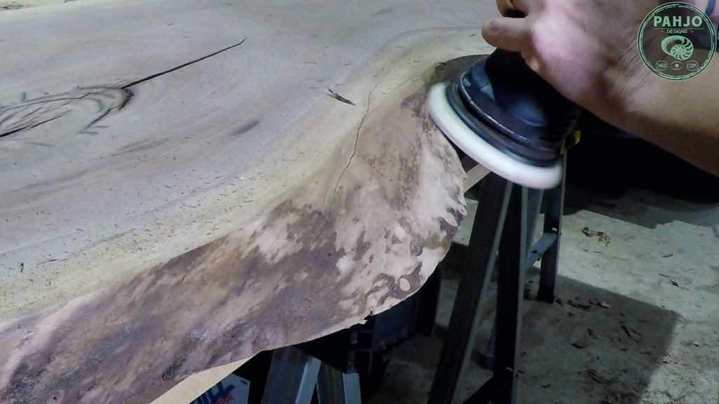 remove bark from live edge